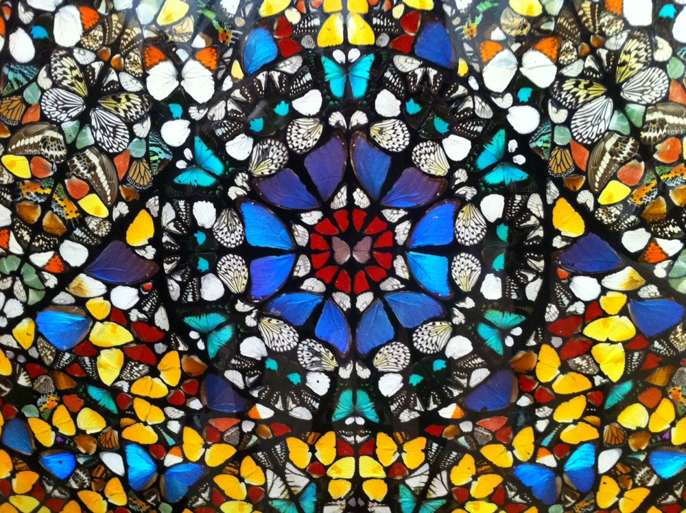 Damien Hirst's butterfly mandalas are the most (in)famous example of butterflies in contemporary art.
