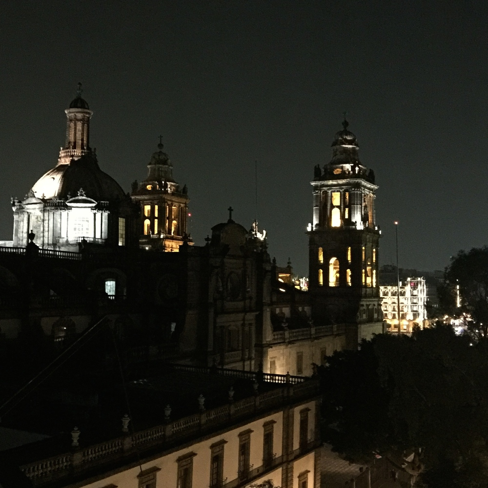 Catedral Metropolitana and Palacio Nacional, Ciudad de México.
