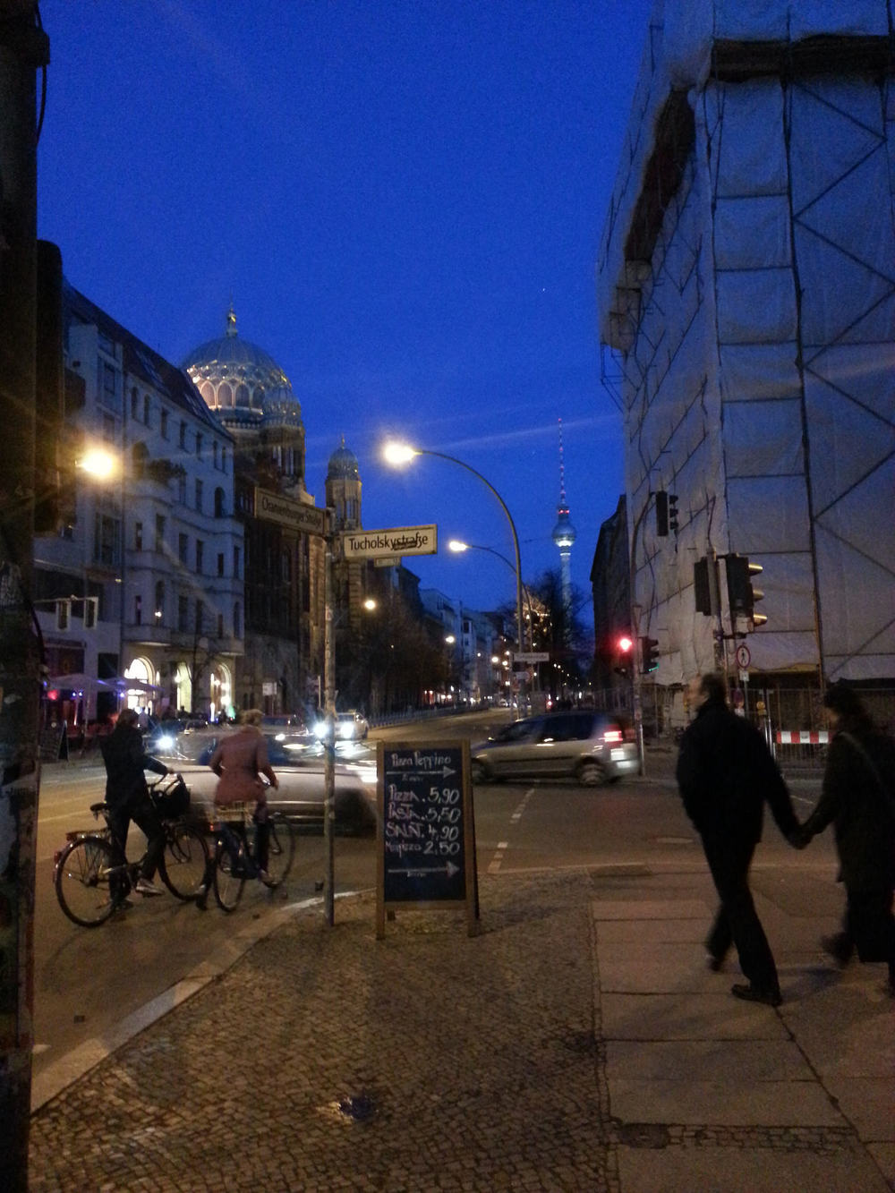 Berlin, night.
